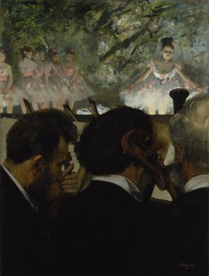 Edgar Degas  Orchestra Musicians, 1872