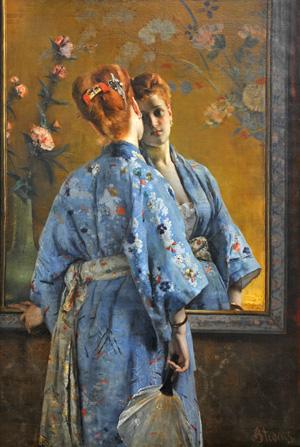Alfred Stevens  The Japanese Parisian, 1872