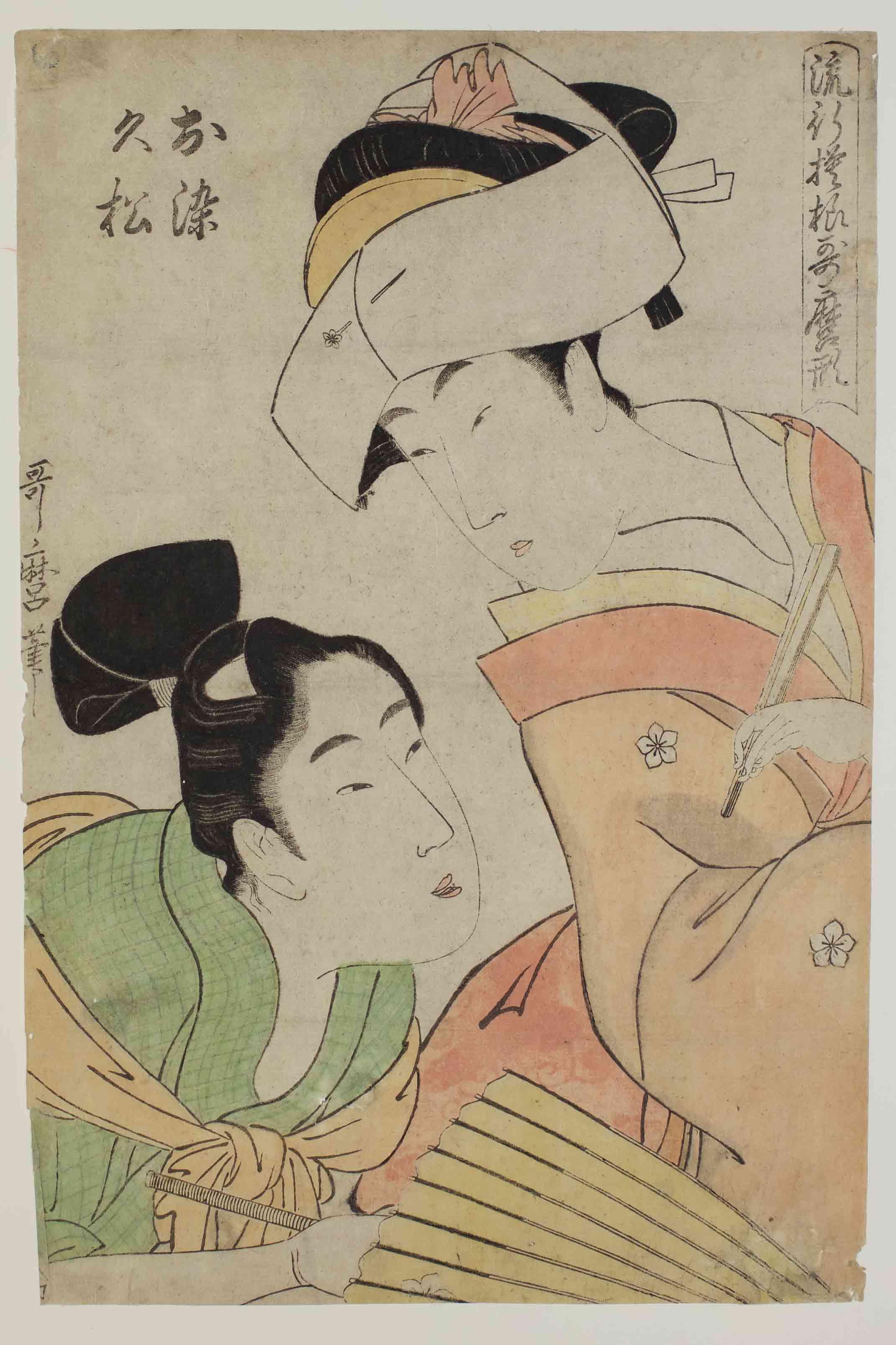Kitagawa Utamaro  Elegant People in Utamaro style, 1801 ca