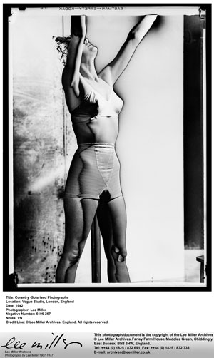Lee Miller Corsetry, Solarised Photographs, Vogue Studio, London, 1942