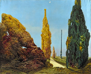 Max Ernst Solitary and Conjugal Trees