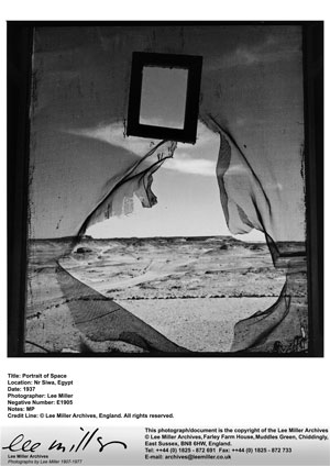 Lee Miller Retrat de l'espai, Al Bulwayeb, a prop de Siwa, Egipte, 1937