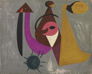 Joan Miró  Composition avec personnages dans la forêt incendiée, 1931