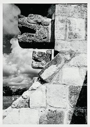 Platform of the Eagles, Chichén Itzá, 1952