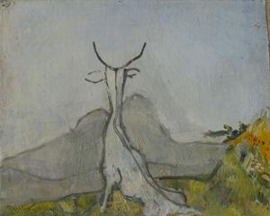 Osvaldo Licini, Imaginary landscape (billy goat), 1927
