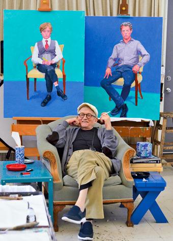 David Hockney in his Studio, Los Angeles, March 1st 2016