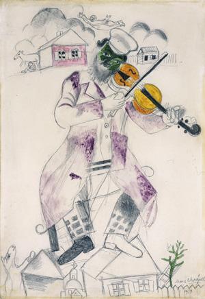 Marc Chagall, Étude pour La Musique