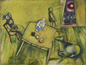 Chagall, La chambre jaune