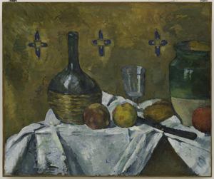 Paul Cézanne, Still Life: Flask, Glass, and Jug