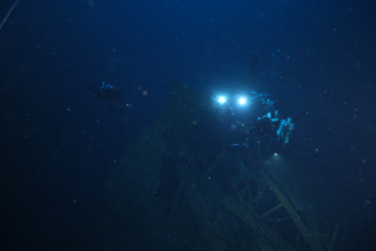 Wreck of the steamship Città di Milano, Filicudi. Photo: Global Underwater Explorers.