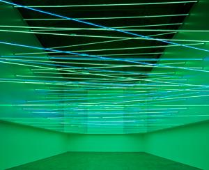 """Lucio Fontana, Fonti di energia, soffitto al neon per """"Italia 61"""", a Torino, 1961/2017"""