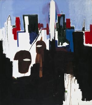 Jean-Michel Basquiat, Financial District (1985)