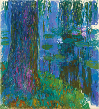 Claude Monet Weeping Willow and Water-Lily Pond 1916-19