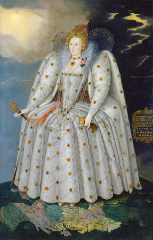 "Marcus Gheeraerts the Younger, Queen Elizabeth I (""The Ditchley Portrait""), c. 1592"
