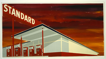 Ed Ruscha, Standard Station Study, 1986. Courtesy of the artist.