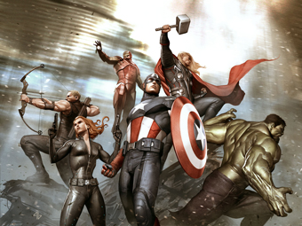 Adi Granov, Keyframe for Marvel's The Avengers 2012   © 2012 Marvel