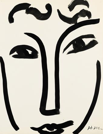 Henri Matisse, Visage, 1952. Photo: Sotheby's / Art digital studio.