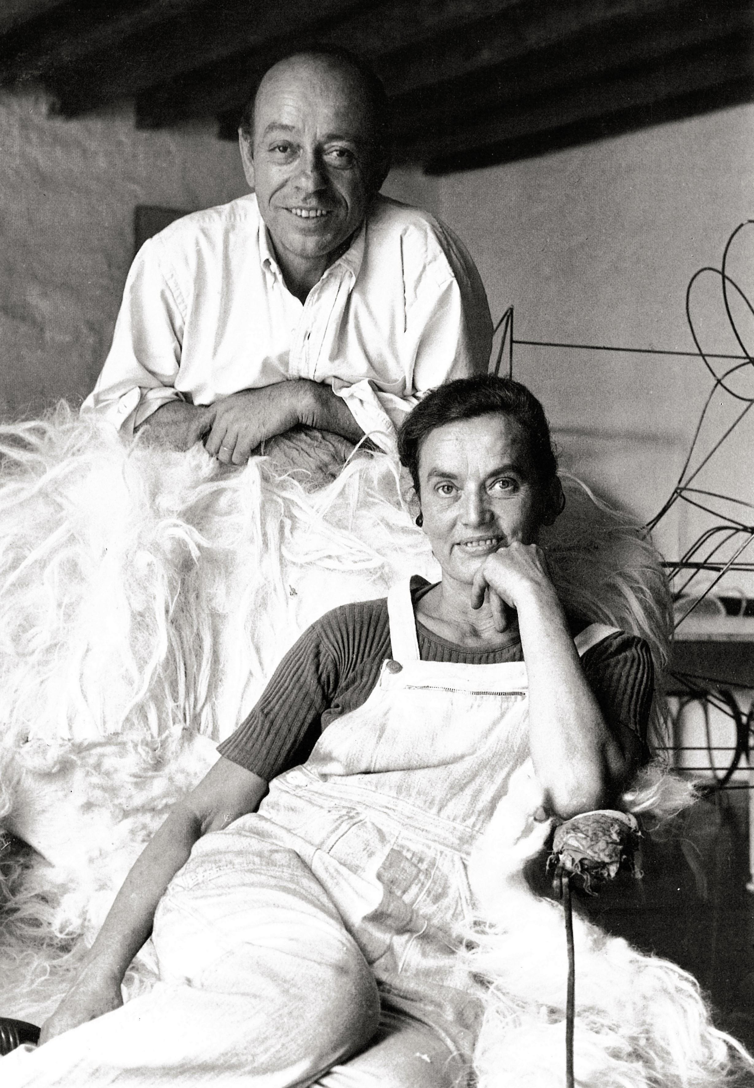 Claude et François-Xavier Lalanne © Edouard Boubat