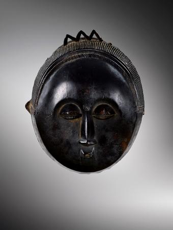 Baulé, Mask, Ivory Coast Provenance Collection Marceau Rivière, Paris, ca. 1972 Credit: Sotheby's / Art Digital Studio