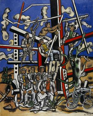 Fernand Léger Study for 'The Constructors': The Team at Rest  (Étude pour 'Les Constructeurs': L'Équipe au repos) 1950