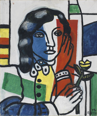 Fernand Léger (1881-1955)  Young Girl Holding a Flower (Jeune fille tenant une fleur) 1954