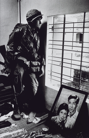 Don McCullin, The Battle for the City of Hue, South Vietnam, US Marine Inside Civilian House, 1968